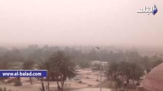 بالفيديو.. إغلاق طريق «طور سيناء - شرم الشيخ 'بسبب العاصفة الترابية