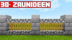 30 Zaunideen in Minecraft | Wie baut man einen Zaun in Minecraft | LarsLP
