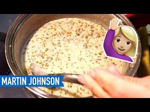 Julie made Bubur Kacang Hijau