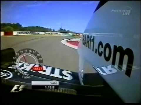 F1 Nurburgring 2004 Q1 - Takuma Sato Lap Record
