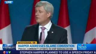 CTV News: Canadian PM Stephen Harper speaks at annual Ahmadiyya Muslim convention