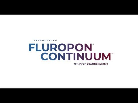 Introducing Fluropon Continuum a 2-coat 70% PVDF metal coating system