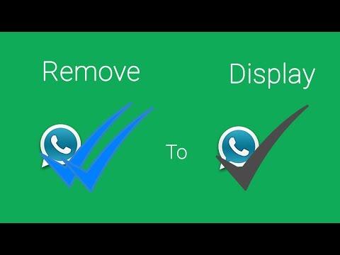 Hide Whatsapp Blue Double Tick Mark & Display Single Tick Mark Instead.