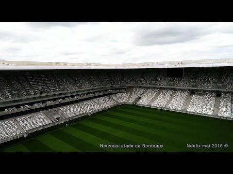 Nouveau stade Bordeaux vu par drone