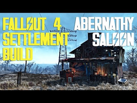 FALLOUT 4 SETTLEMENT BUILD: ABERNATHY SALOON