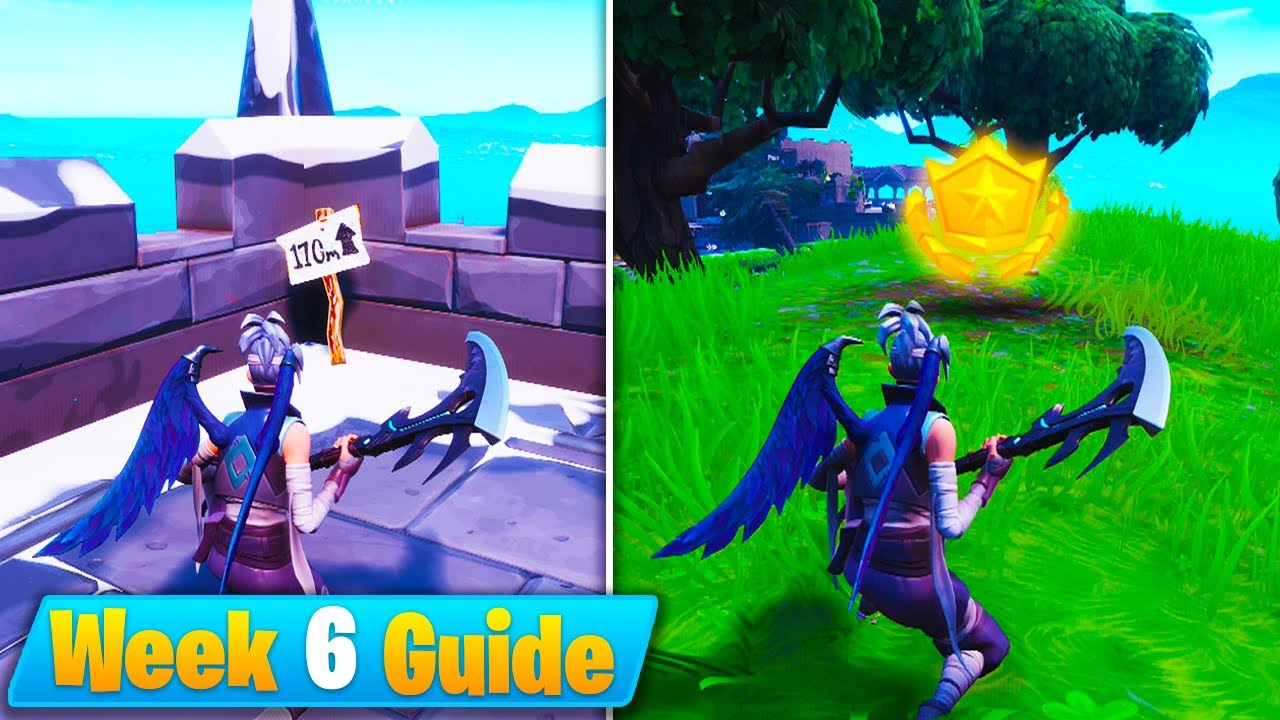 fortnite week 6 challenges guide visit 5 highest elevations battle star location season 8 - top 5 highest elevation points fortnite