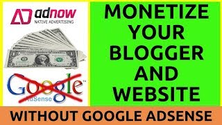 How to monetize your blogger blog and website without google adsense full tutorial in hindi 2018