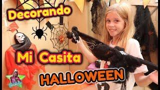 MI CASITA DE CARTÓN EN  HALLOWEEN 2018!! Decorando mi Casita para Halloween| Daniela Go