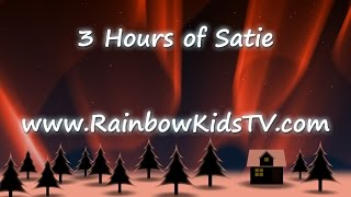 ♥ 3 Hours of baby music ♥ Erik Satie Gymnopedie No 1 ♫ relaxing music video ♫ Aurora Borealis