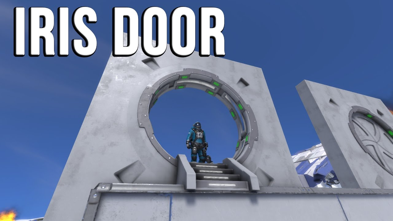 & Space Engineers - IRIS DOOR (Stargate?) - Mod Spotlight - YouTube