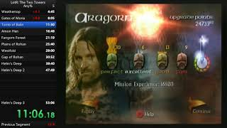 Lord of the Rings: The Two Towers Speedrun (52:56) (Old WR)