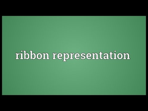 Ribbon representation Meaning