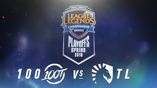 100 vs. TL    NA LCS Spring Playoffs   Finals Game 3   100 Thieves vs. Team Liquid (2018)