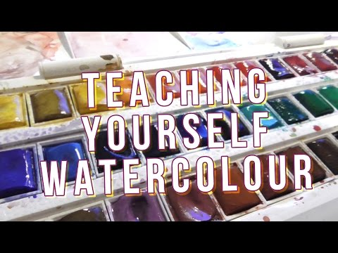 A YEAR OF LEARNING WATERCOLOUR plus montage!!