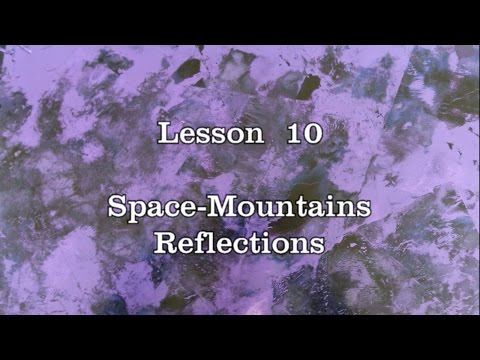 Lesson 10: Space-mountains, Reflections – Spray Paint Art workshop by DATSAS