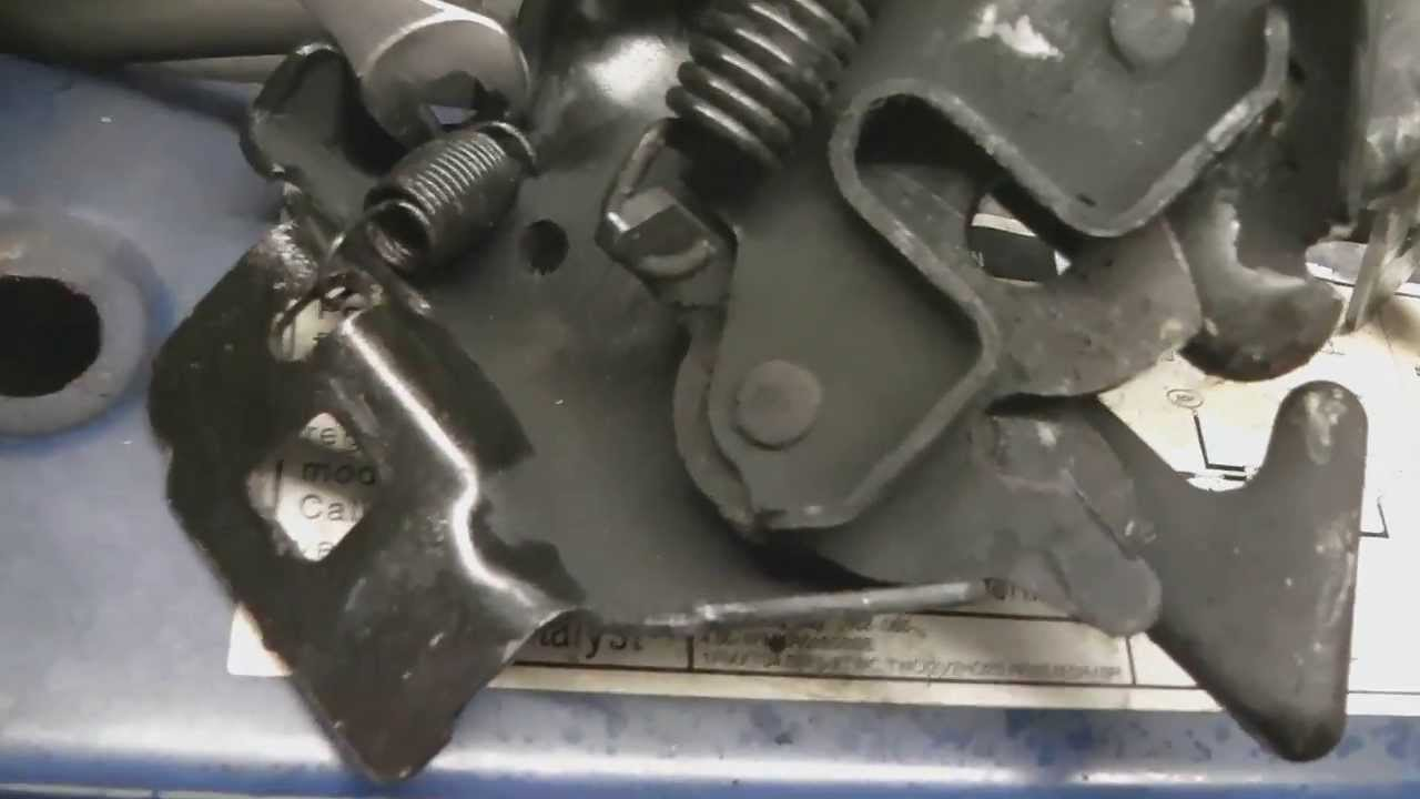 Replace broken hood latch demonstrated on a ford ranger similar to ford explorer mazda b series youtube