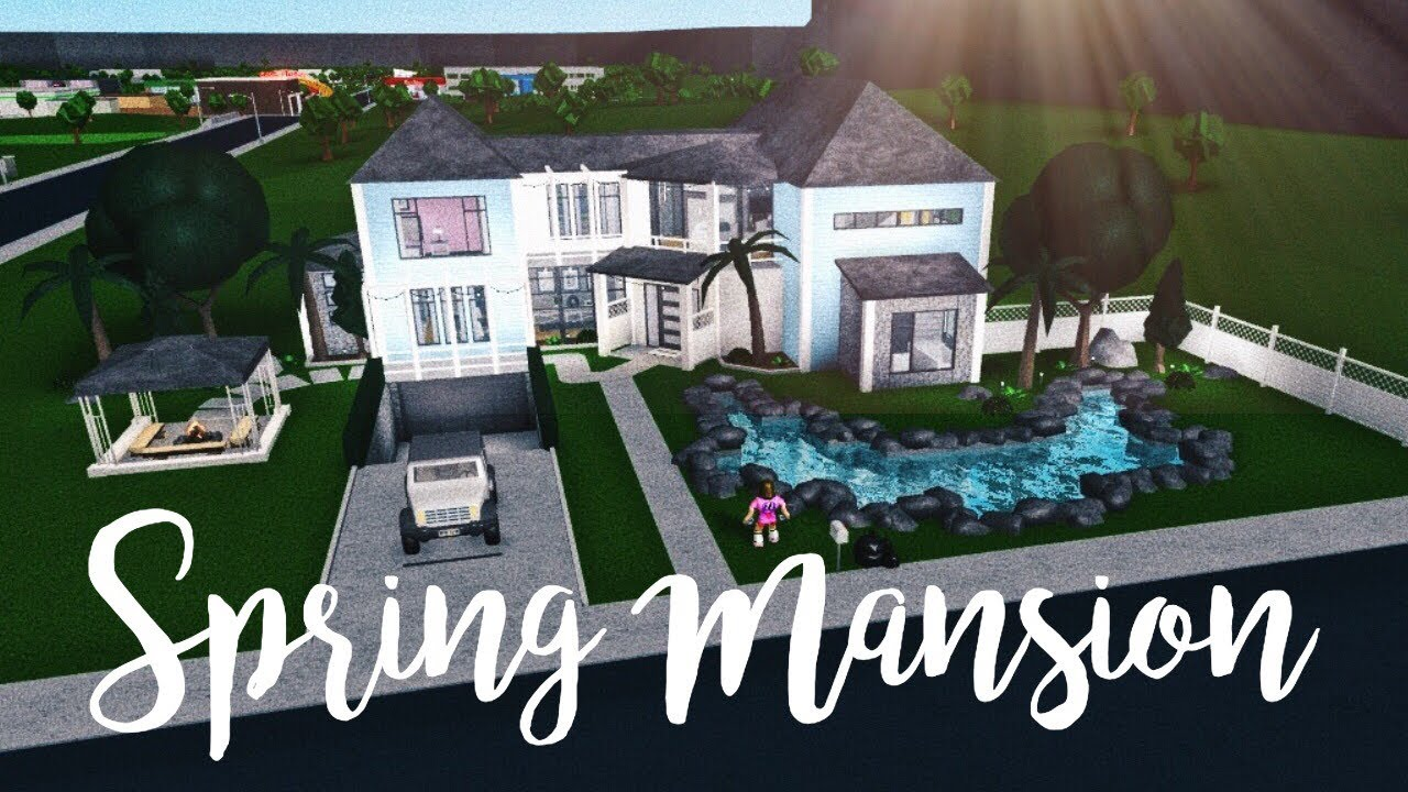 Bloxburg Spring Mansion 143k Youtube