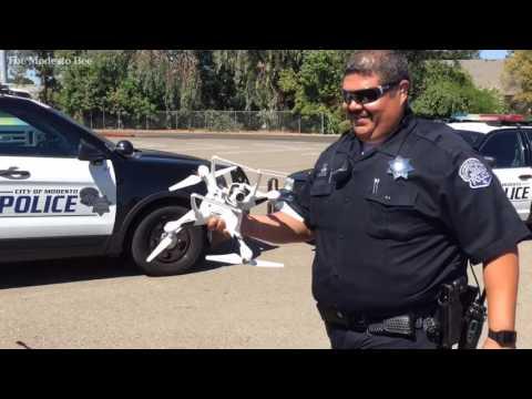 Modesto police show drone aircraft