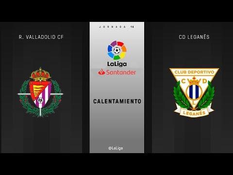 Calentamiento R. Valladolid CF vs CD Leganés