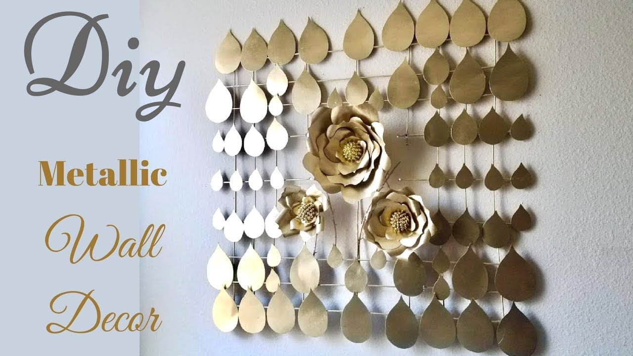 prodigious Metallic Wall Decor Part - 17: Diy Large Metallic Wall Decor| Inexpensive Wall Decorating Idea!