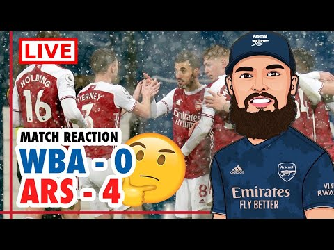 WEST BROM 0-4 ARSENAL MATCH REACTION 🤔 | A CONVINCING WIN & PERFORMANCE IN TOUGH CONDITIONS 👌🏼