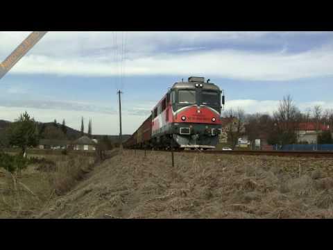 609 007 MMV - Magyar Magánvasút a Godisa e con treno merci a Komló