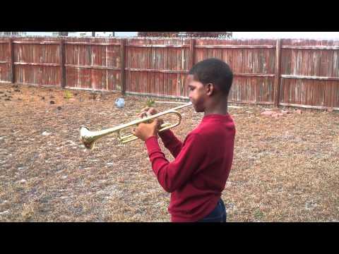 Brandon practicing Alabama Fight Song