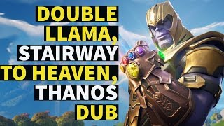 DOUBLE LLAMA, STAIRWAY TO HEAVEN, FIRST USE OF THANOS AND WON!! | FORTNITE | PS4 |
