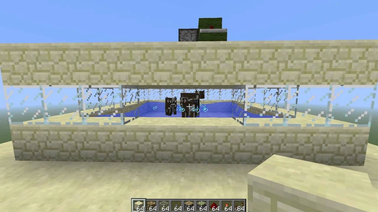 Very Efficient Cow Farm Design With Cooker Minecraft Tutorial Youtube