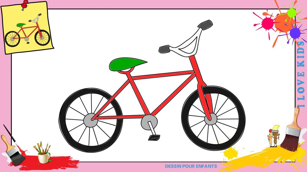 Dessin v lo 3 comment dessiner un v lo facilement etape par etape pour enfants youtube - Dessin velo vtt ...