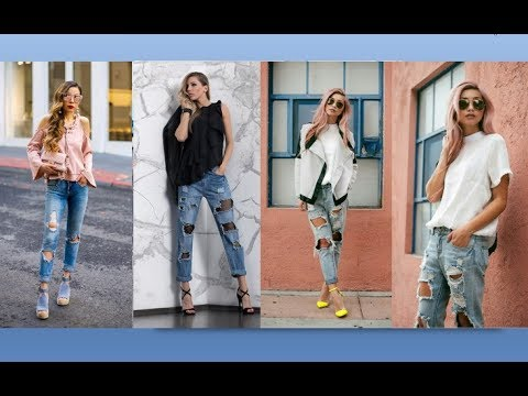 6e89d9173f Cut Out Jeans 2018 Fashion Trends   Ideas The Best Jeans Trends 2018  Boyfriend Jeans