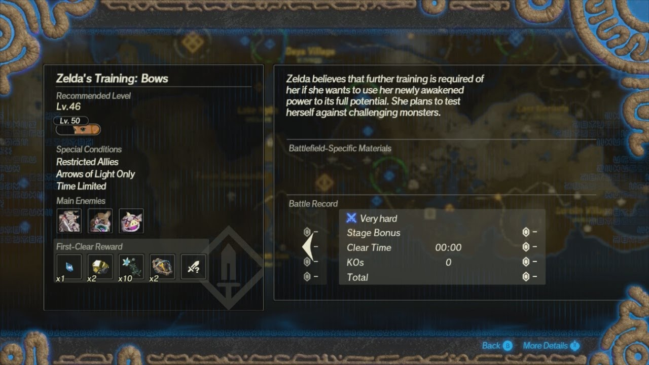 Hyrule Warriors Age Of Calamity 143 Challenge Zelda S Training Bows Youtube