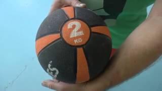 Обучение волейболу. Мой первый волейбольный мяч - набивной мяч