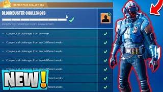 *NEW* Fortnite BLOCKBUSTER Skin Gameplay!   The Visitor! ( Free Skins )