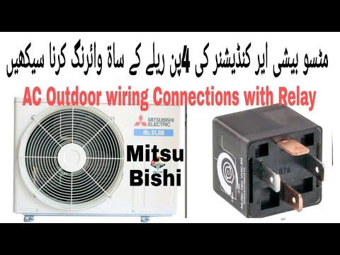 Mitsubishi air conditioning pcb mitsubishi ac outdoor contactor relay connections in urduhindi muhammad naeem asfbconference2016 Choice Image