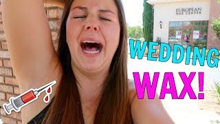 MY PRE WEDDING BEAUTY ROUTINE! WEDDING NAILS, HAIR + FIRST WAX EVER!!