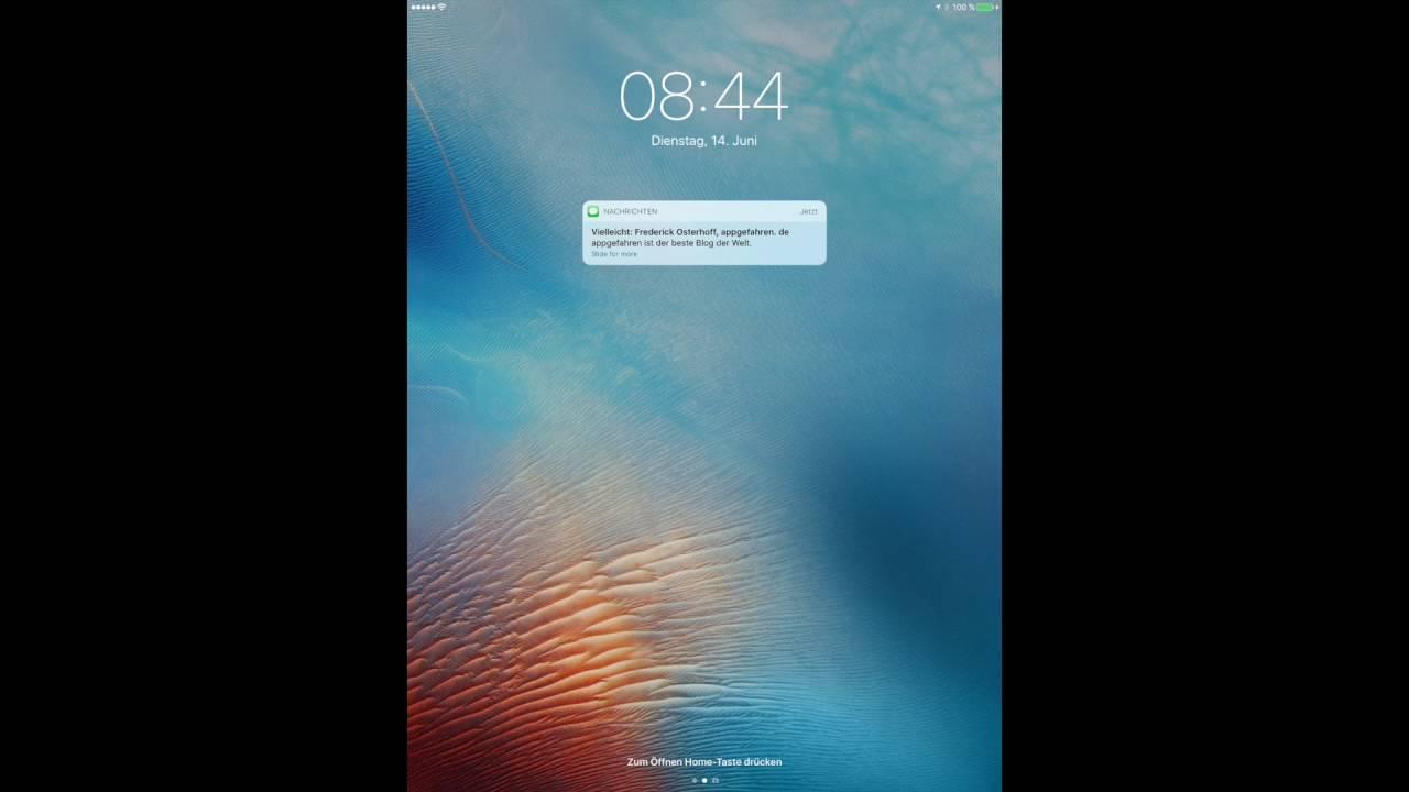 ipad slide to unlock