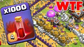 1000 Skeleton Spell Incredible Attack On COC | Modded Apps Game Play