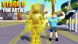 💪 Stage 9 at last! The expected moment game is over! 💪 | Lifting Simulator | Roblox English
