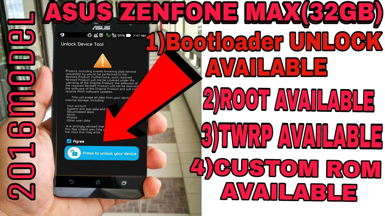 ASUS zenfone max(32GB) bootloader unlock tools officially available,custom  rom,root,twrp available
