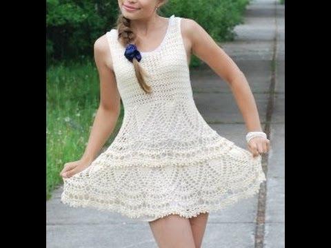 Vestidos Tejidos A Ganchillo Juveniles