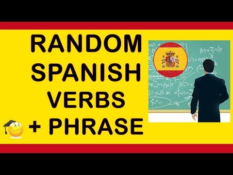 Spanish Verbs: Random Verbs With A Phrase And English Subtitles Part
