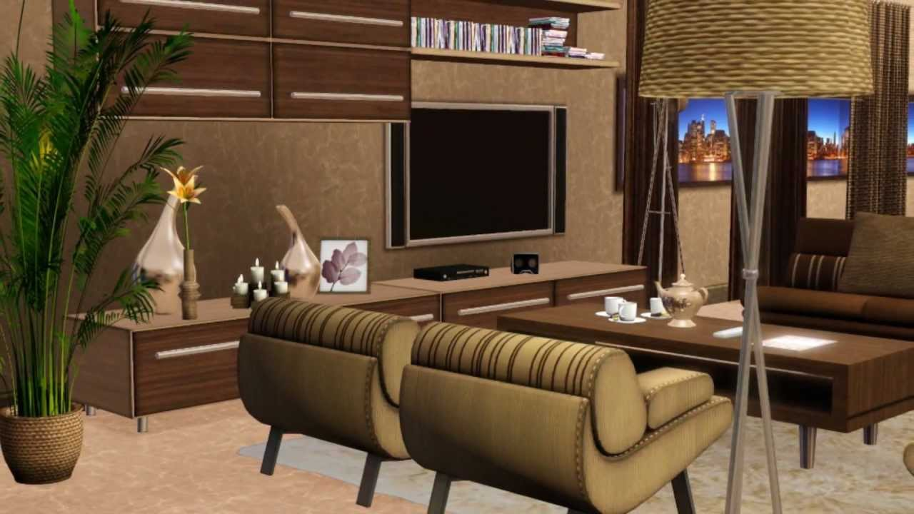 House sims 3 manhattan 39 s design apartment hd youtube for Appartement design sims 3