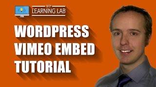 WordPress Vimeo Embed Tutorial   WP Learning Lab