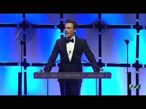 Erich Bergen  Black Tie Dinner Media Award 2018  Acceptance Speech