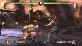 Gameplay - Mortal Kombat 9 - Kratos vs Scorpion!!