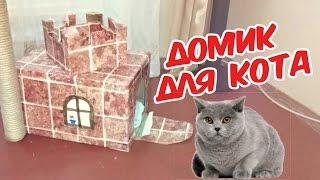 Домик для кота своими руками (DIY)