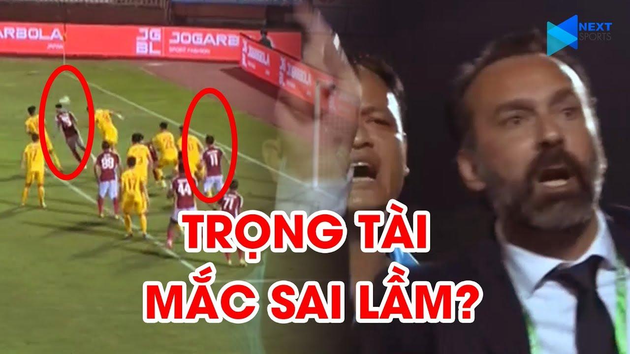 HLV Thanh Hóa phản ứng dữ dội khi trọng tài công nhận bàn thắng của CLB TP. HCM | NEXT SPORTS