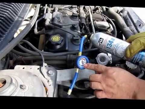 How to put Refrigerant in your Car  YouTube