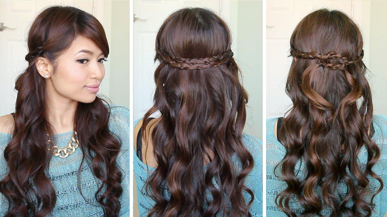 irregular braid headband hairstyles | hair tutorial